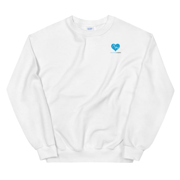 UNISEX SWEATSHIRT - I LOVE A HERO