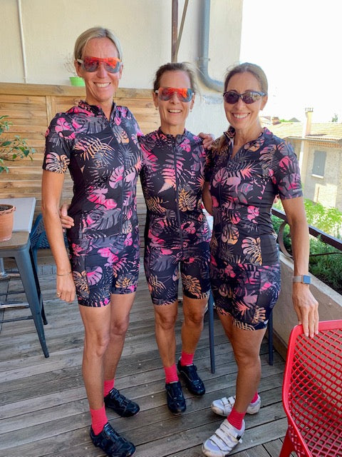 ladies wearing cycling kits