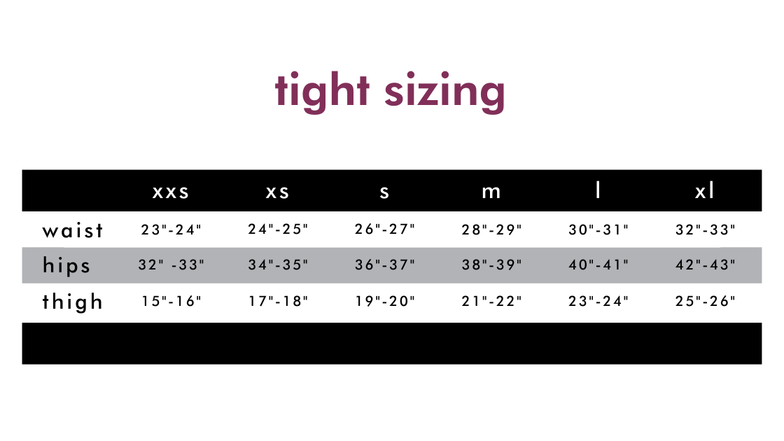 cycling tights sizing guide