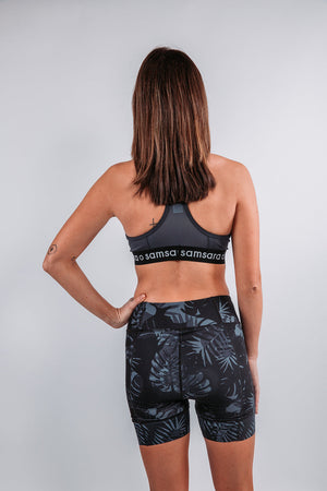 Load image into Gallery viewer, women's biking padded shorts palm print - samsara cycle