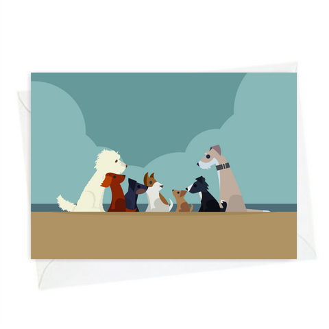 All Dogs - Mike&Scrabble A6 Greeting Card