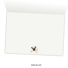 Baby Pug - Mike&Scrabble A6 Greeting Card