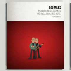 500 Miles - The Proclaimers- Beatone Print 2020