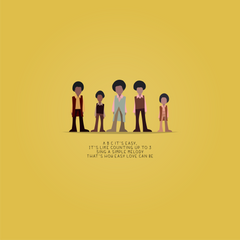 ABC - The Jackson 5 - Beatone Print