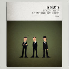In the City - The Jam - Beatone Print 2020