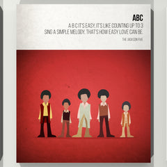 ABC - The Jackson 5 - Beatone Canvas Print 2020