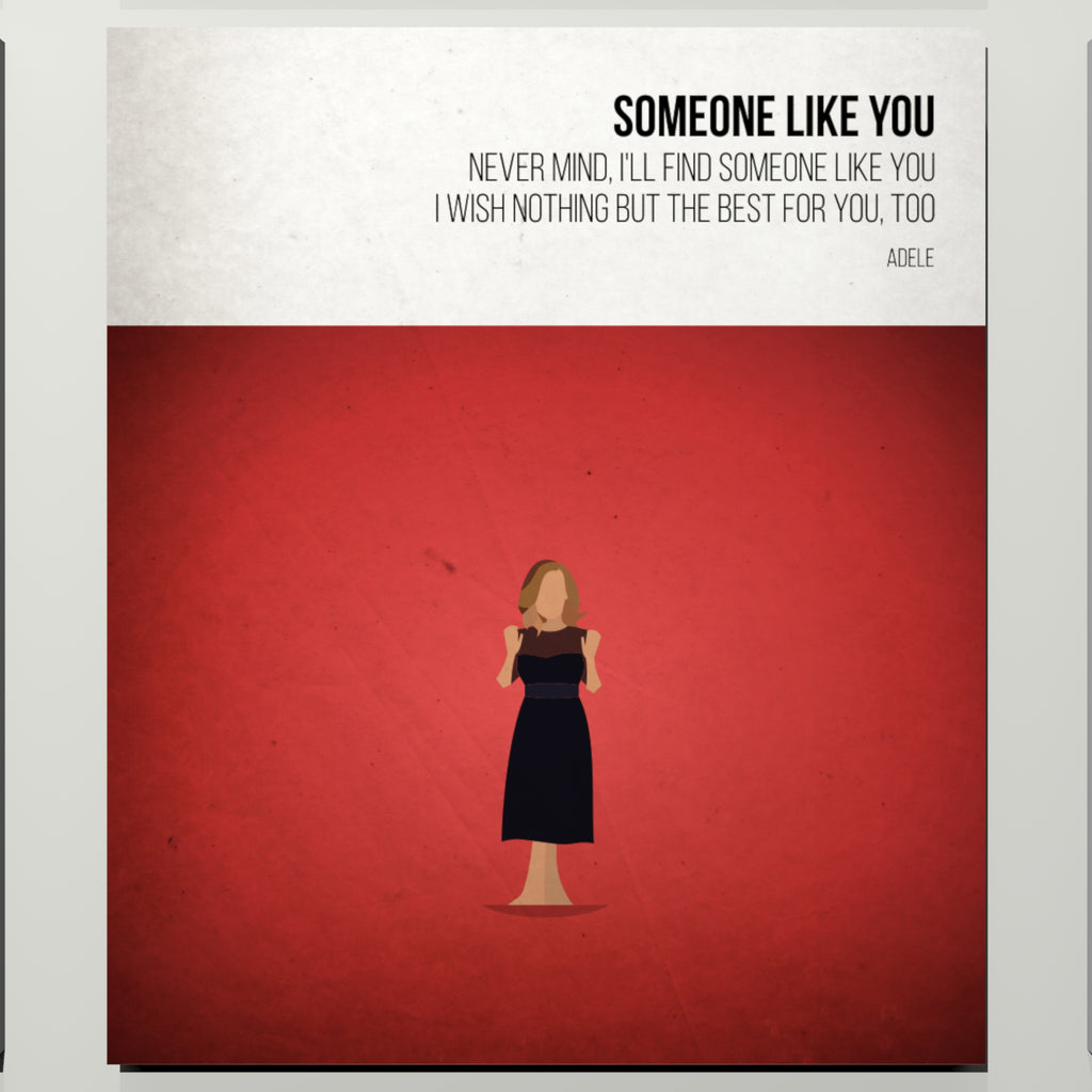 Someone Like You - Adele - Beatone Print 2020