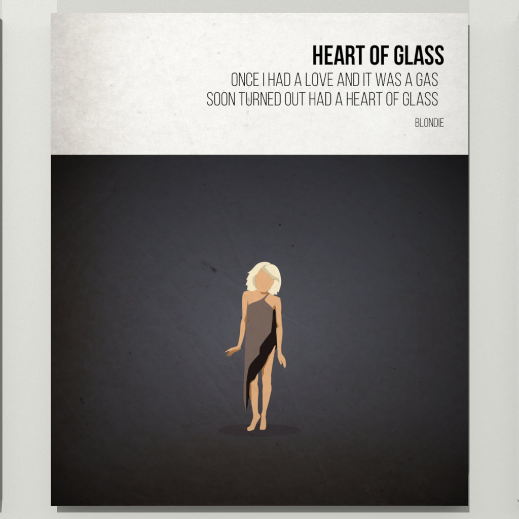 Heart of Glass - Blondie - Beatone Print 2020