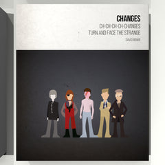 Changes - David Bowie - Beatone Canvas Print 2020