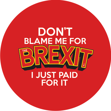 Brexit Comic Badge