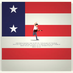Born in the USA - Bruce Springsteen - Beatone Canvas Print