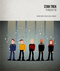Star Trek - Captains - Beatone Canvas Print 2020