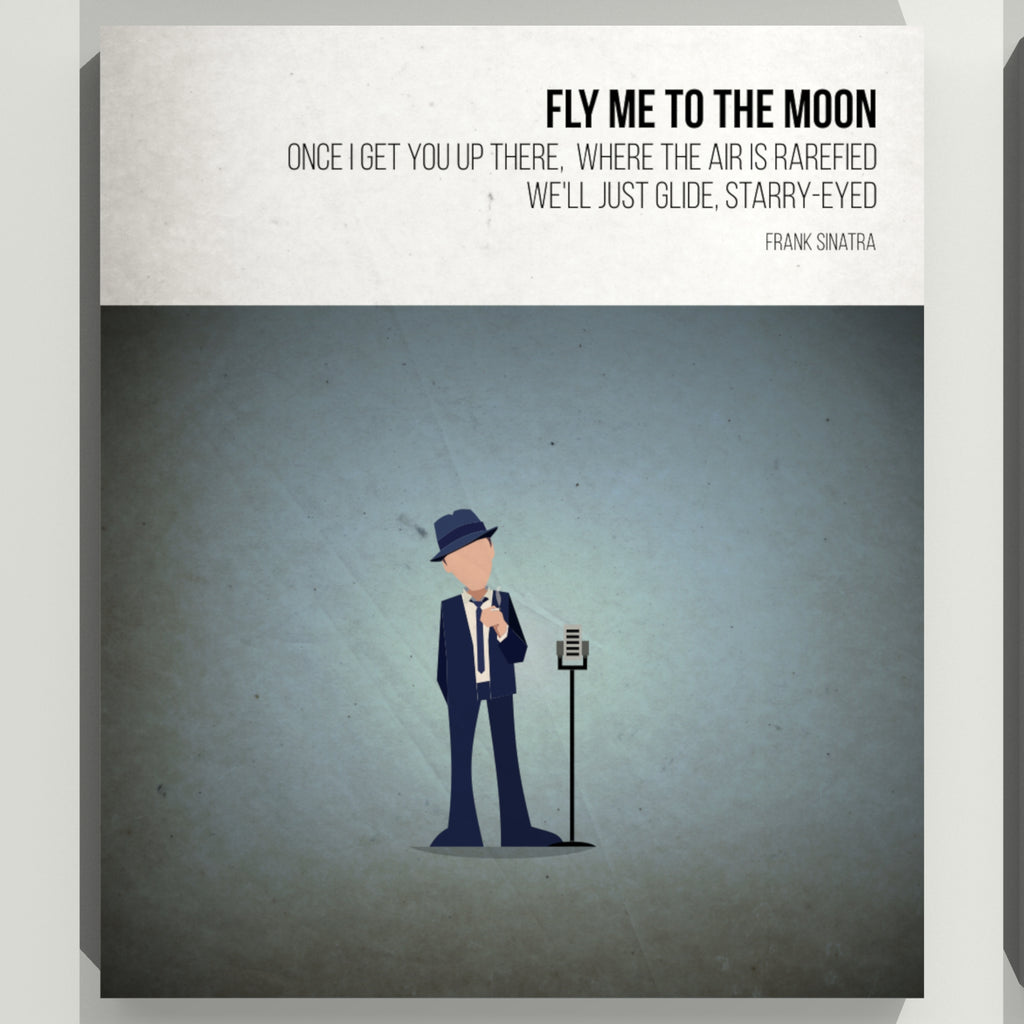 Fly me to the moon- Frank Sinatra - Beatone Print 2020