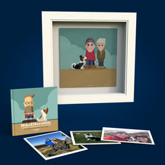 Mike&Scrabble Commissions - Canvas Print - £249