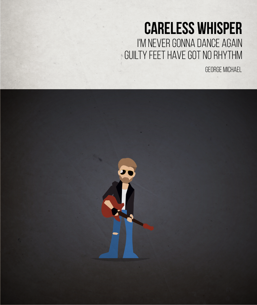 Careless Whisper - George Michael - Beatone Canvas Print 2020