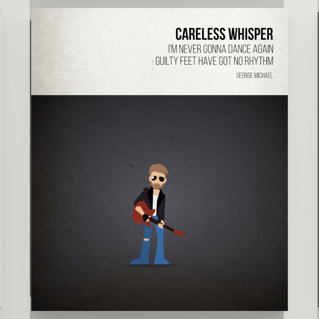 Careless Whisper - George Michael - Beatone Print 2020