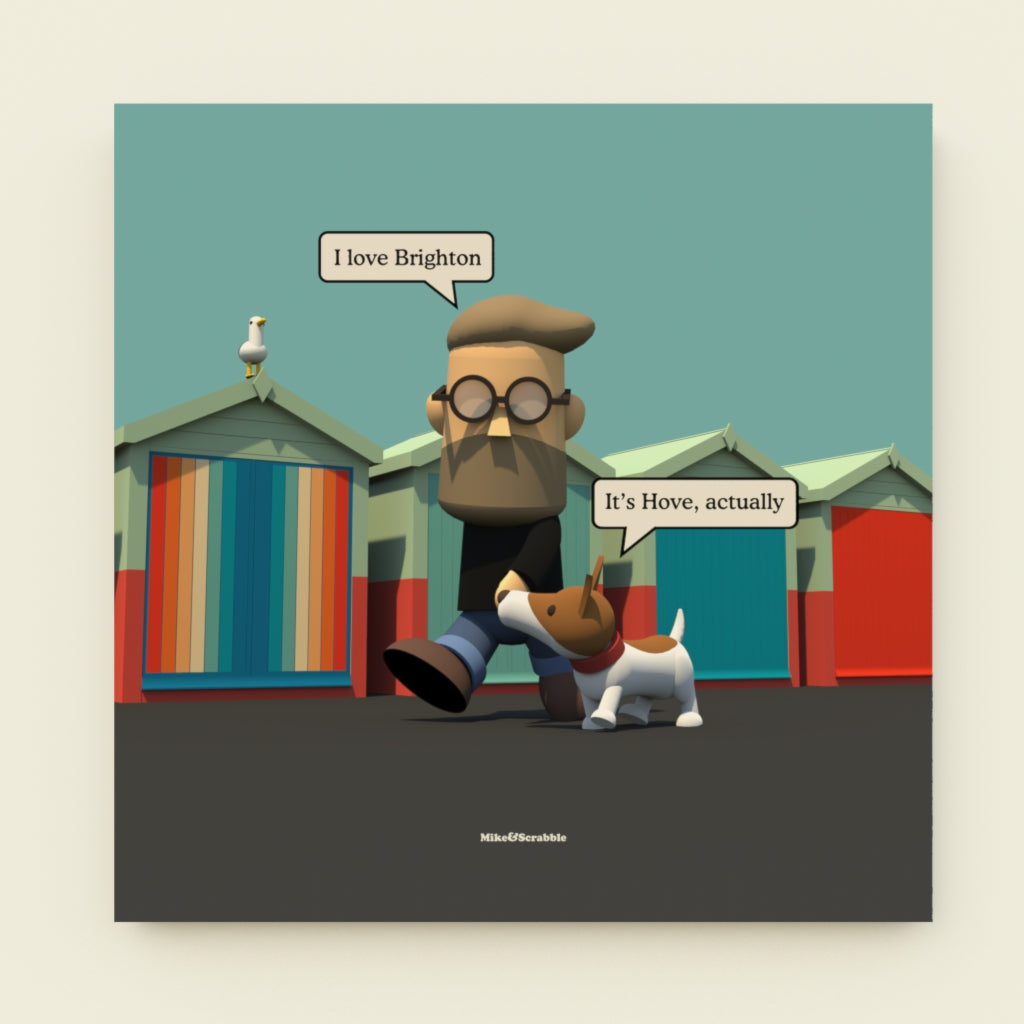 It's Hove, Actually - Mike&Scrabble - Canvas Print