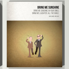 Bring me Sunshine - Morecambe and Wise - Beatone Canvas Print 2020