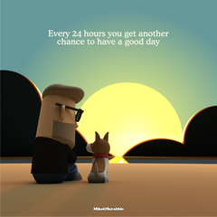Have a good day - Mike&Scrabble Canvas Print