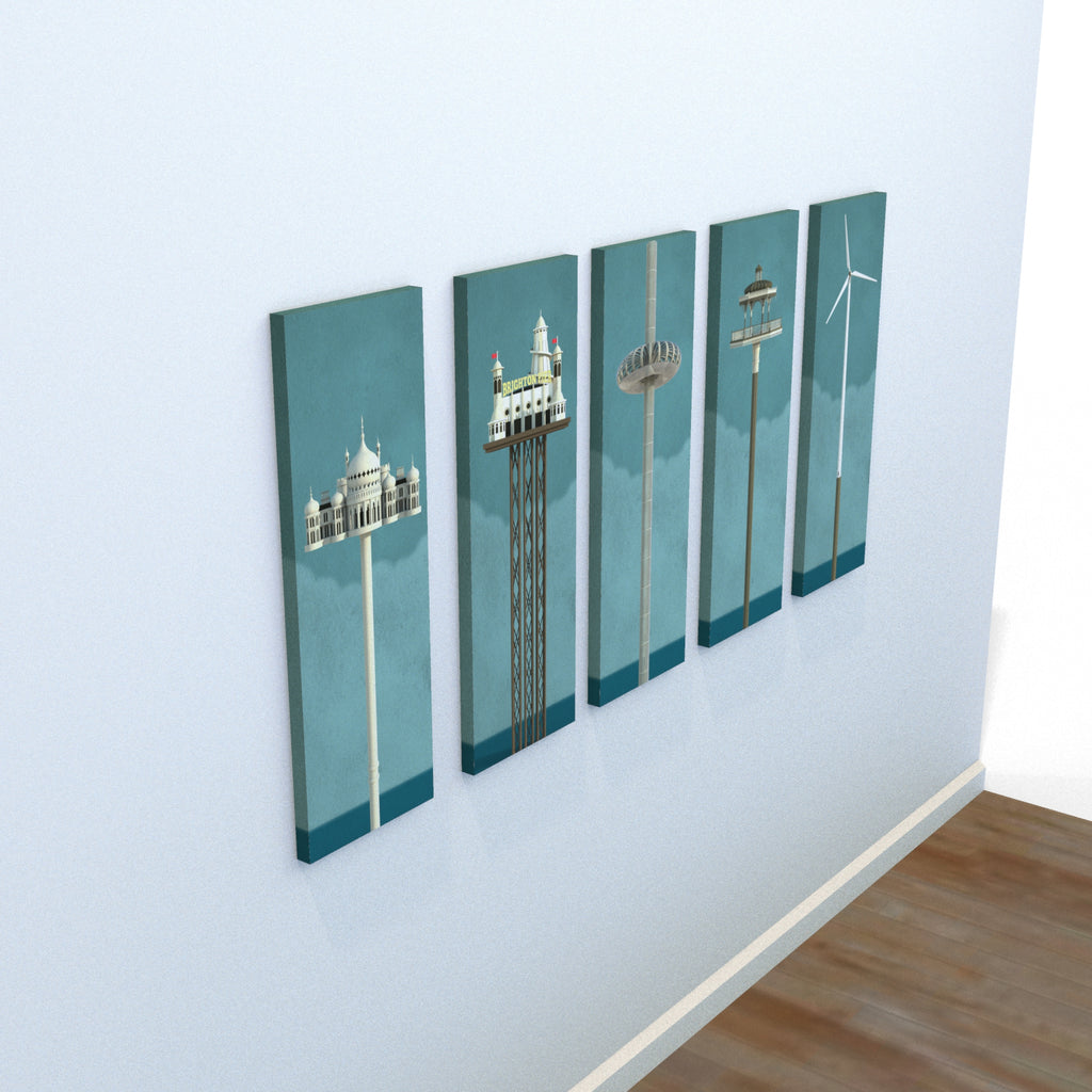 The Towers of Brighton & Hove (Set) (Print)