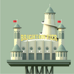 The Towers Of Brighton & Hove (Brighton Green) Canvas Print