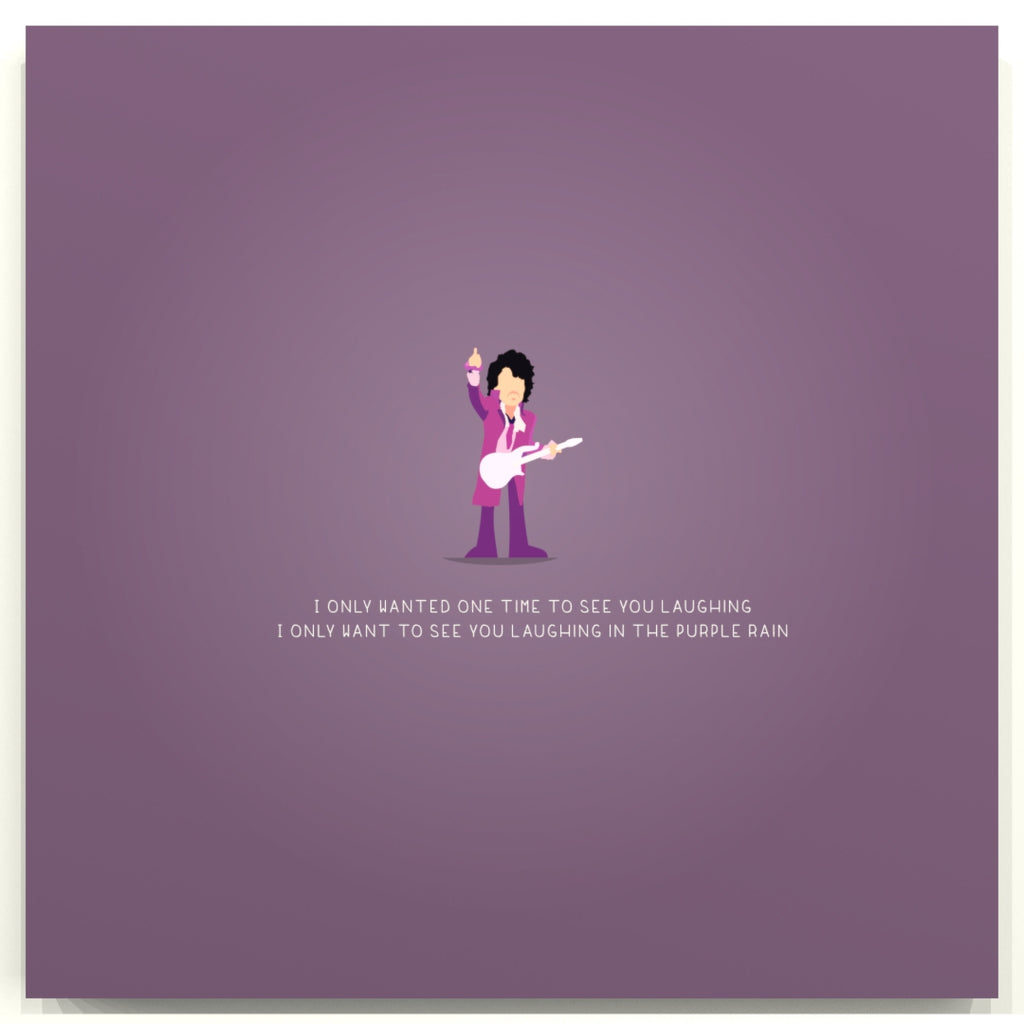 Purple Rain - Prince - Beatone Print