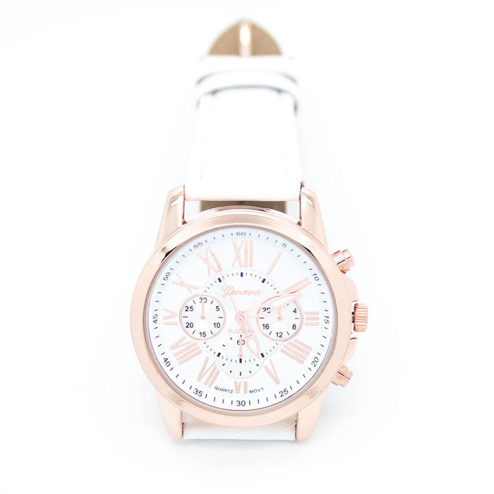 Womens Roman Numeric Colourful Watch