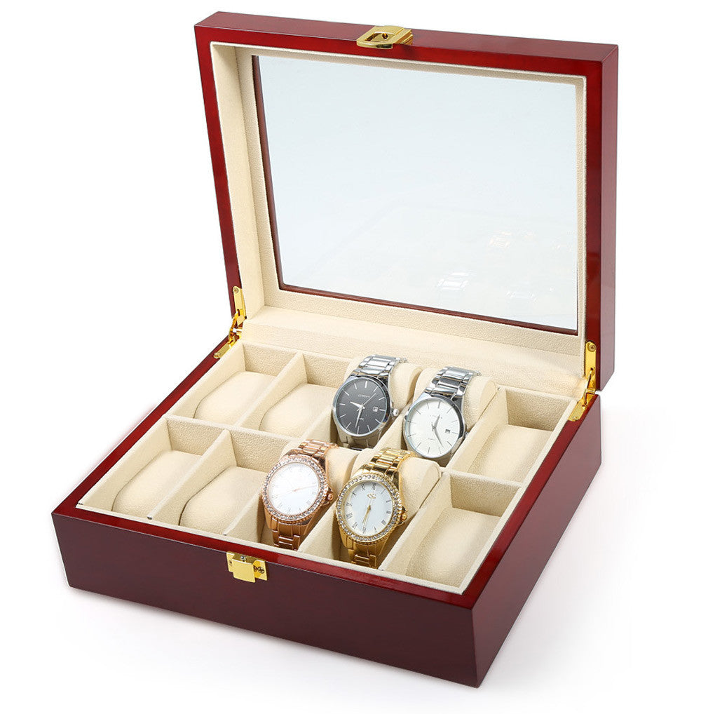 Piano Lacquer 10 Grid Luxury Watch Box
