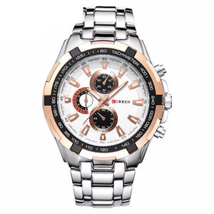 Mens Business Luxury Silver