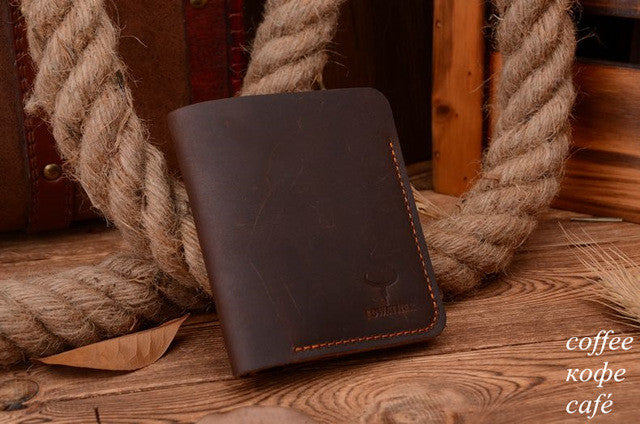 Stitched Black Leather Wallet