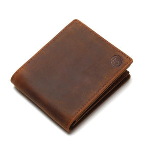 Vintage Crazy Horse Handmade Leather Men's Wallet