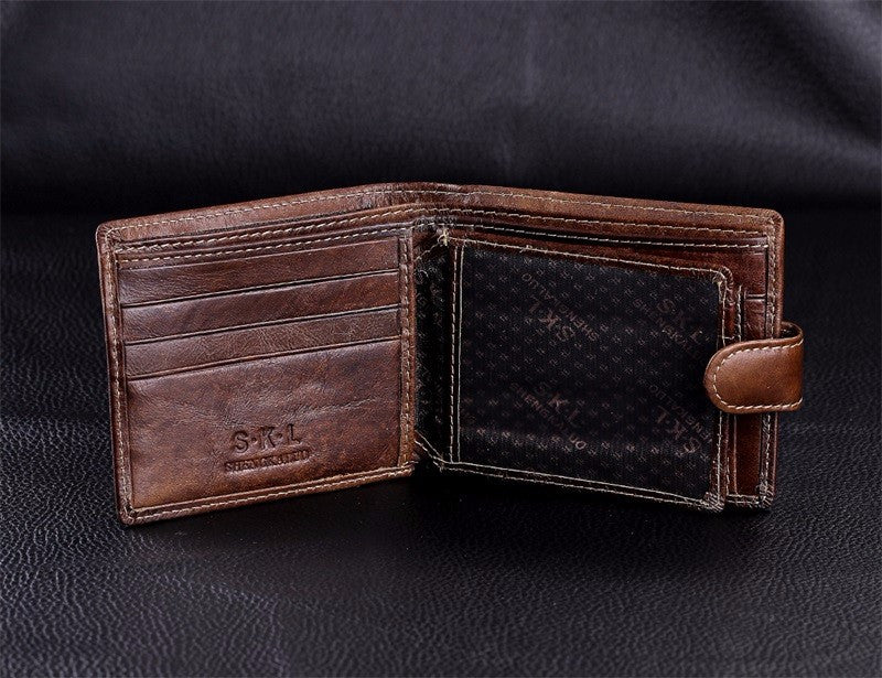 Gentleman's Coffee Brown Leather Wallet