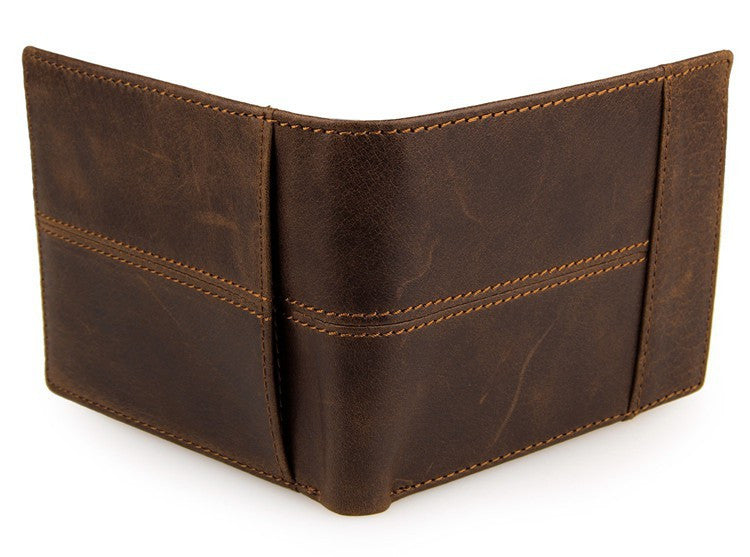 Short Leather Mens Wallet