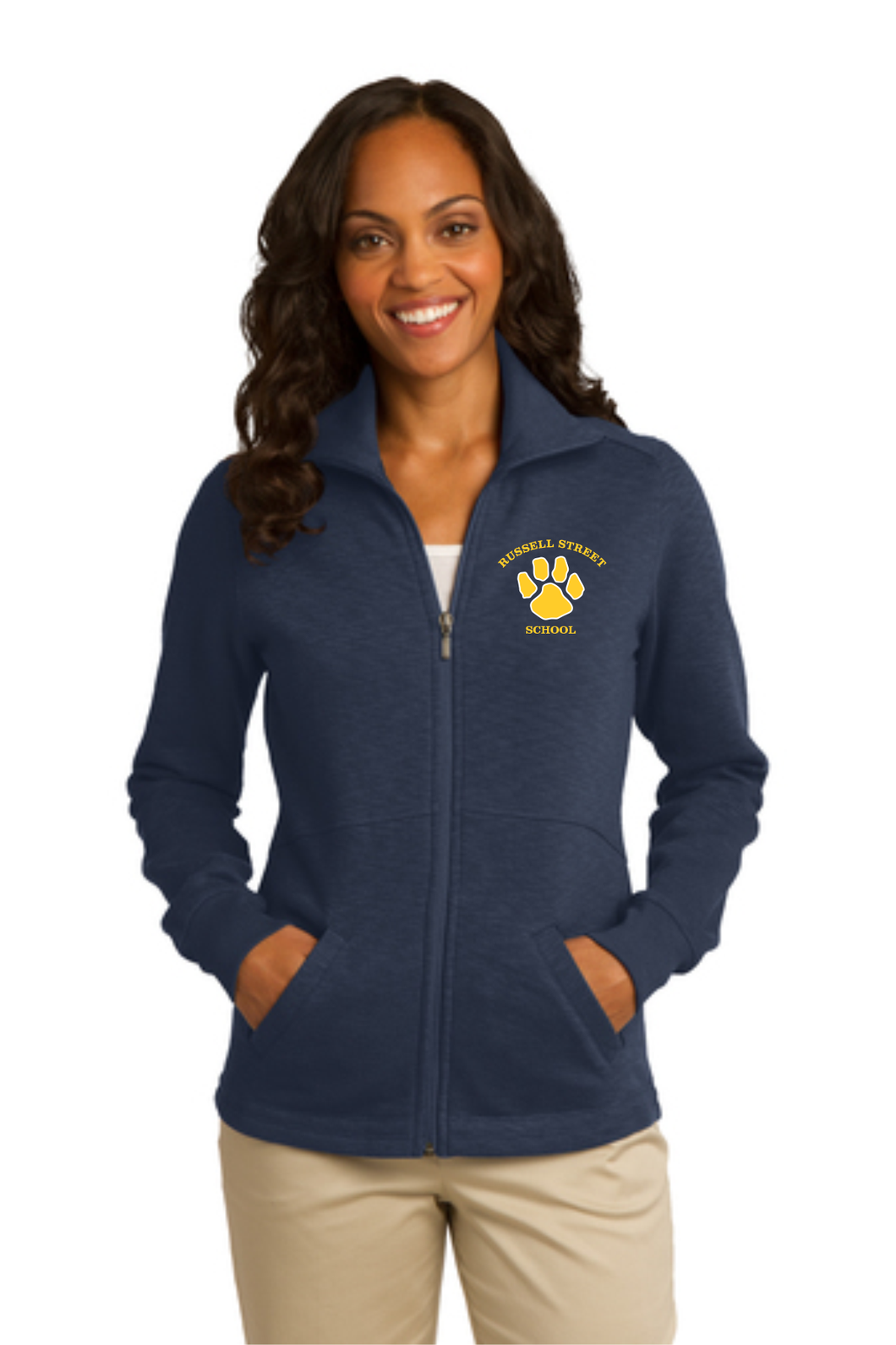 Russell Street School Ladies Slub Fleece Full Zip / Sanmar L293