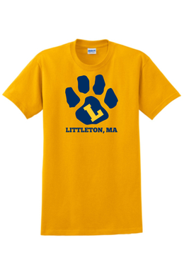 Littleton PTA Tee Shirt Yellow / Sanmar G2000 *Youth Sizes Available