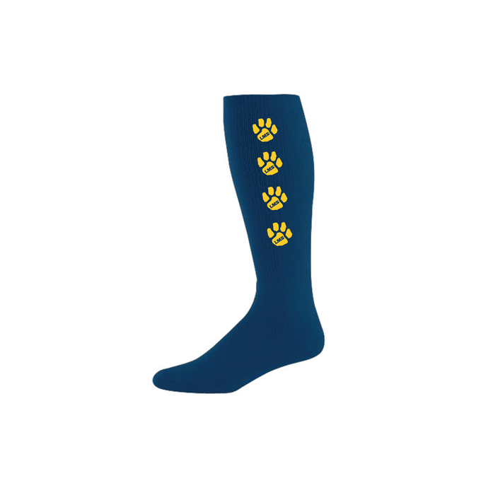 Littleton PTA Athletic Sock with Stripe Paw Logo/ Augusta 328030