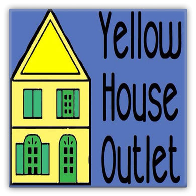 Yellow House Outlet Metal Magnet