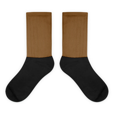 Brown foot socks