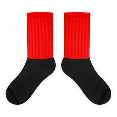Red foot socks