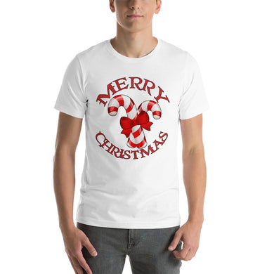 Merry Christmas Candy Cane Short-Sleeve Unisex T-Shirt