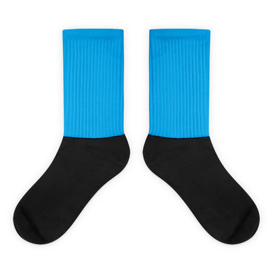Cyan foot socks
