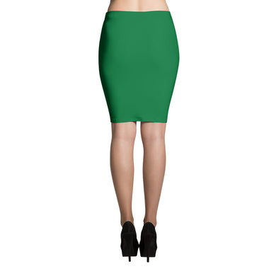 Hunter Green Pencil Skirt