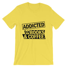 Addicted to Books and Coffee t-shirt
