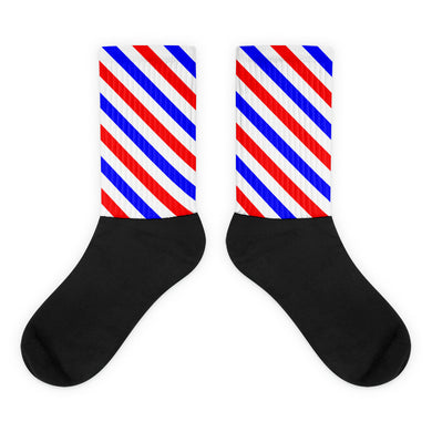 Red, White, and Blue foot socks