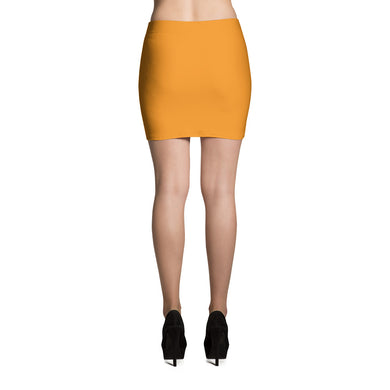 Orange Mini Skirt