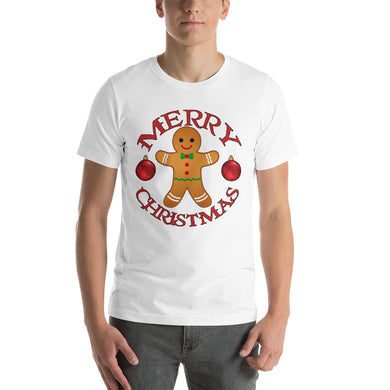 Merry Christmas Gingerbread Man Short-Sleeve Unisex T-Shirt