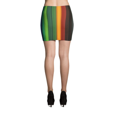 Rainbow Pattern Mini Skirt