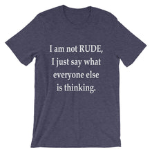 I am not rude
