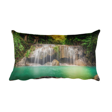 Tropical Waterfall Pillow