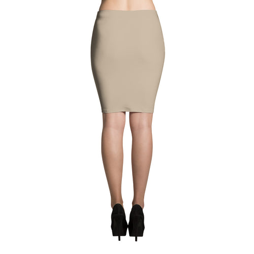 Tan Pencil Skirt
